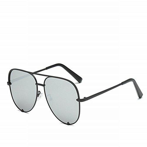 Gafas de negr gris de Tamaño Caja wei Sol Caja Retro negra Gafas Sol Un Negra 1qwBxdgpR