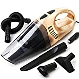 YONGYONG New Car Vacuum Cleaner Super Suction High Power Dry and Wet Car Vacuum Cleaner 12V YONGYONG (Color : Gold)