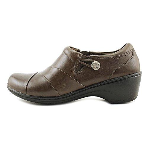 CLARKS Women's Channing Ann Slip-On Loafer Dark Brown cheap sale cheap shop offer best seller Haxn09