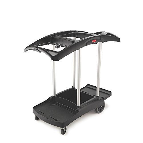 Rubbermaid Housekeeping FG9T7200BLA Service Cart with Two...