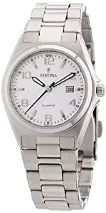 Festina F16375/5 - Reloj analógico de cuarzo para mujer con correa de acero inoxidable, color plateado