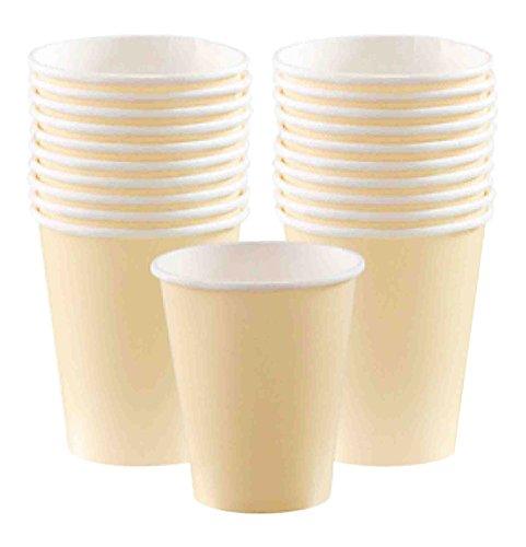 Vanilla Crème Paper Cups | 9 oz. | Party Supply | 120 ct. (Paper Creme)