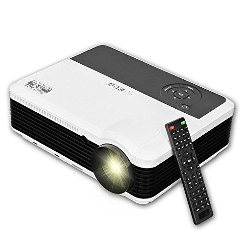 EUG X88+ HD Projektor hdmi LED LCD Beamer 3600Lumen 1280*800 Auflösung für Heimkino und Videospiele mit HDMI/VGA/USB/TV/AV/YPbPr