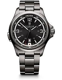 Men's 241665 Swiss Army Night Vision Dark Grey Dial Black Ice PVD Steel Watch