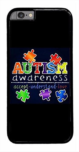 Deal Market LLc - Autism Awareness ribbon puzzle different not less -For the Apple iPhone 6 / 6S (4.7 inch). Made and shipped from the USA (Awareness Puzzle Style Ribbon)