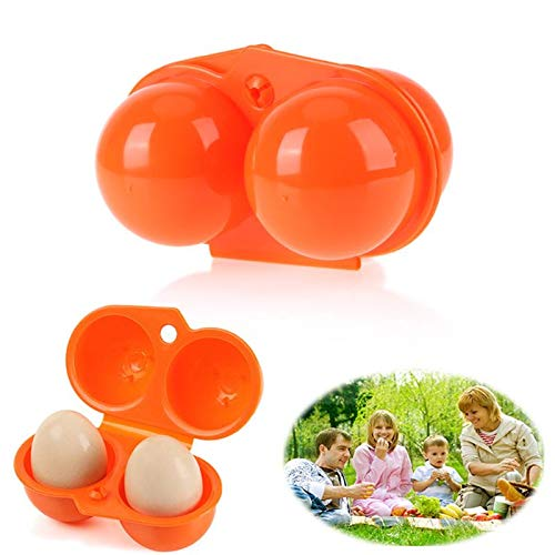 Yichener 1Pc Plastic Portable Kitchen 2 Egg CaseStorage Box Organizer Food Container Hiking Outdoor Camping Carrier for 2 Egg Box Tool by Yichener (Image #2)