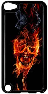 Carcasa Apple iPod Touch 5de calavera en fuego