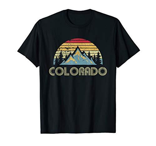 Colorado Tee - Retro Vintage Mountains Nature Hiking T ()