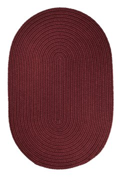 Braided 5' x 8' Oval Solid Color Area Rug (Many Colors Available) (Burgundy) ()