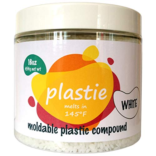 Plastie moldable plastic, 16oz. Durable hand moldable polymorph plastic for DYI, crafts, repairs, etc.