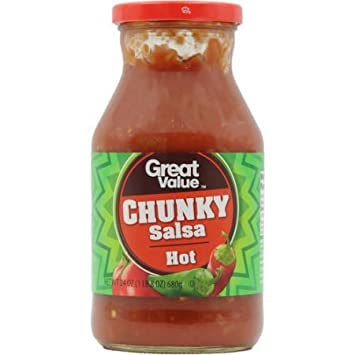 Great Value: Hot Chunky Salsa, 24 Oz