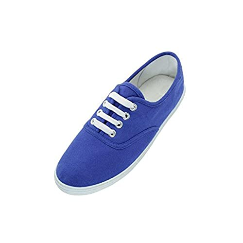 AimTrend Womens Canvas Lace Up Sneakers Royal Blue-8