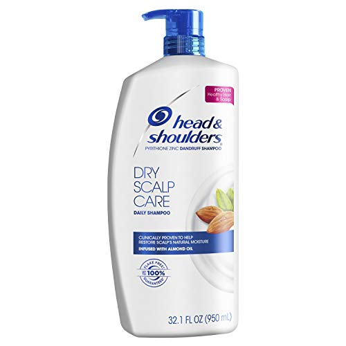 Head and Shoulders Dry Scalp Care with Almond Oil Anti-Dandruff Shampoo 32.1 Fl Oz (Pack of 4)