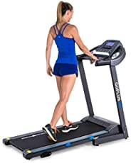 Goplus 2.25HP Electric Folding Treadmill with Manual Incline, Walking Running Jogging Fitness Machine with Blu