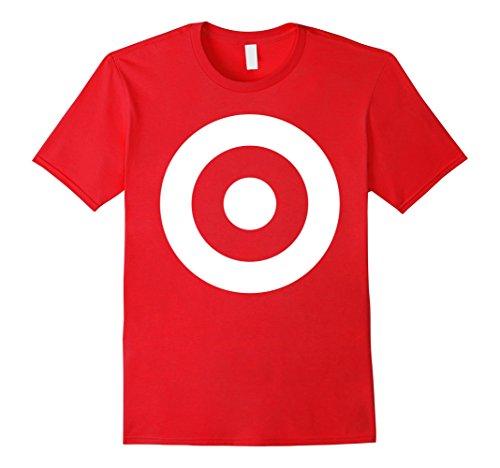 Mens Monochrome Mod Target Pop Art Shooters Gun Body T-Shirt Small - Men Target For