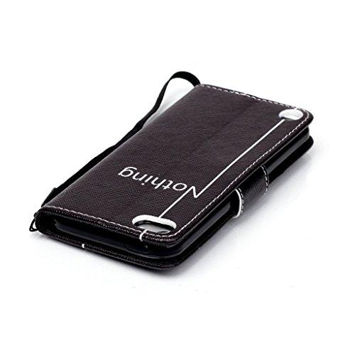 Trumpshop Smartphone Carcasa Funda Protección para Apple iPod Touch 5 (5th Gen) / iPod Touch 6 (6th Gen) + Sonreír + PU Cuero Caja Protector con Choque Absorción Nothing