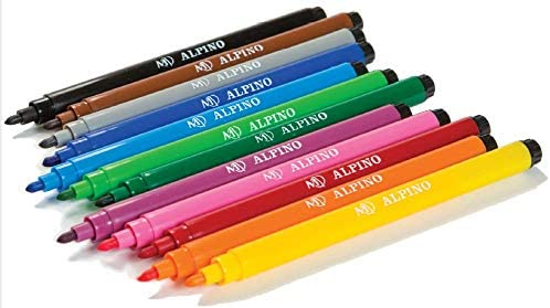 Alpino AR001002 - Pack de 12 rotuladores, colores surtidos: Amazon ...