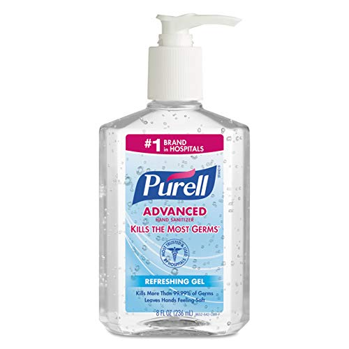 PURELL Advanced Hand Sanitizer, Refreshing Gel, 8 fl oz Sani