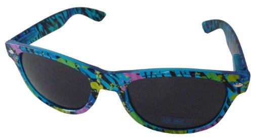 Classic Wayfarer Style Designer Inspired Glasses Zafari Zebra Print with UV Protection - Blue Frame