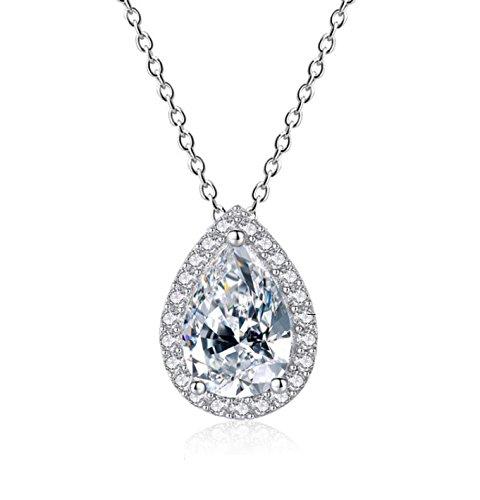 STAZZLE Smile, Sparkle & Shine Cubic Zirconia for Women Bridal Wedding Jewelry (Necklace)
