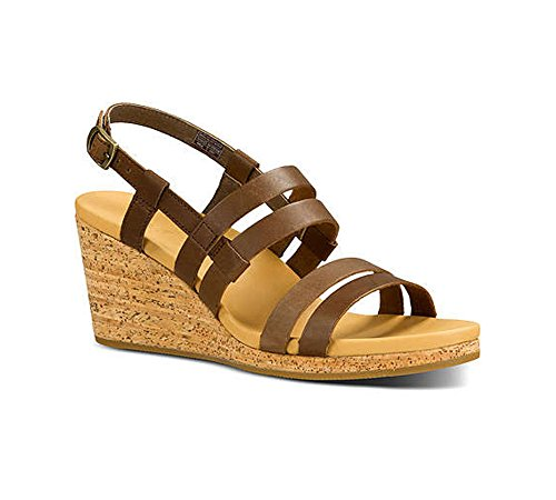 Teva Women's Arrabelle Leather Sandal, Brown, 9 M US