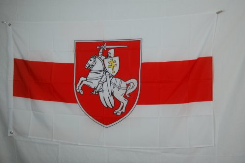 Flag Belarus - Coat of Arms Pogonia Belarus the Chaser 3x5 Flag Banner