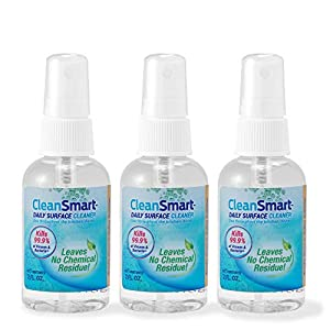 Best Epic Trends 41NdUZGNnhL._SS300_ CleanSmart To Go Disinfectant Kills 99.9% of Viruses, Bacteria, Mold and Fungus, 2 oz Bottle (Pack of 3)