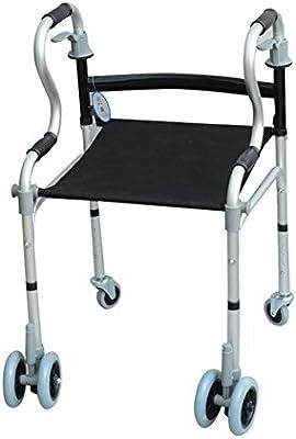 Andador,Ruedas Y Sentarse, Aluminio Ligero Plegable, Altura ...