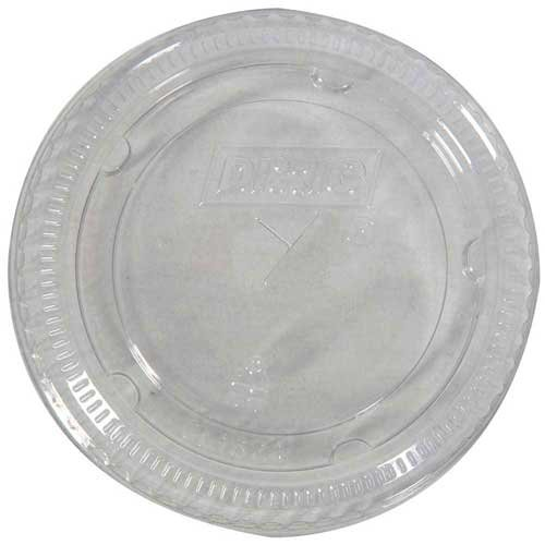 Dixie Flat Straw Slotted Clear Lid for 16-24 Ounce Plastic Cold Cups - 1000 per case. ()