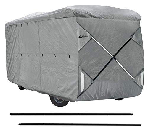 Leader Accessories Easy Setup Class A Motorhome Cover Fits RV W Assist Steel Pole (33'-37') -