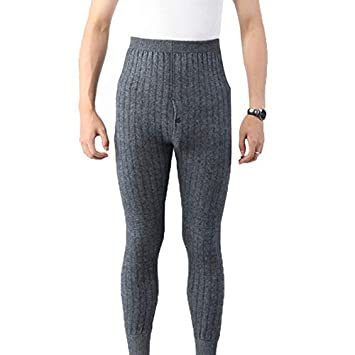 6f50ff9d2ac7 Petsdelite® Qingteng Thermal Underwear Man 2 Layers Cashmere Fleece Blend  Knitted Male Leggings Knee Pad