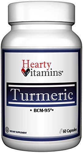 Hearty Vitamins Turmeric Curcumin BCM-95, 500 mg, Provides Antioxidant, Non-GMO, Gluten Free, Soy Free, 60 Vegetarian Capsules