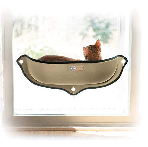 K&H PET PRODUCTS EZ Mount Window Bed Kitty Sill, Tan, 27 x 11 x 6
