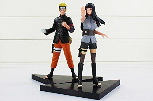 2pcs/lot Naruto Anime Uzumaki Naruto + Hyuga Hinata Solid Se
