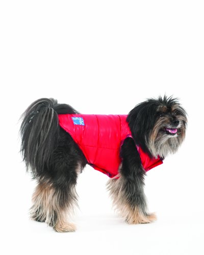 Fashion Pet Lookin Good Reversible Puffy Vest for Dogs, Large, Red
