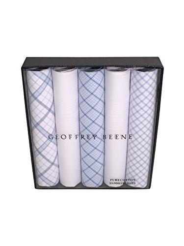 - Geoffrey Beene 5 Pack Handkerchiefs (Navy)