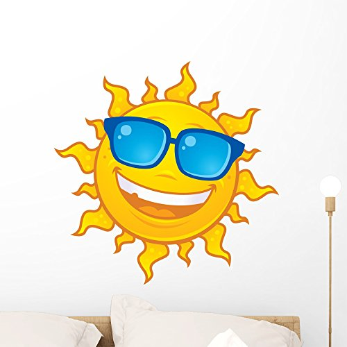 Sun Wearing Sunglasses Wall Decal by Wallmonkeys Peel and Stick Graphic (24 in H x 24 in W) - Sunglasses Graphic