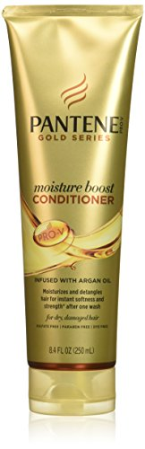 Pantene Pro-V Gold Series Moisture Boost Conditioner, 8.4 Fluid Ounce for African American, Ethnic and Curly Hair Care