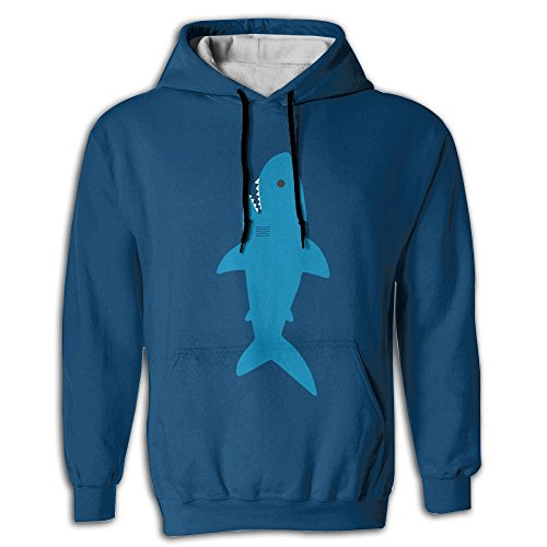 Cute-Shark Pullover Pocket Sublimated 3D Full Hoodie Fall For Outdoor Sports Warm Sweater Yoga Fit Unisex (Castle Tv Show Halloween Costume)