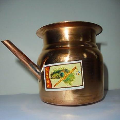Olla de cobre Ganga India Artcollectibles Sagar para diseño ...