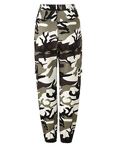 Grau Casuales Mujer Deportivo Camuflaje Múltiples Battercake Para Pantalones Aire De Casual Libre Jeans Jóvenes Al Mujeres Bolsillo Con zqxACTw