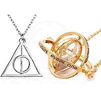 Colar Harry Potter Relíquias Da Morte + Vira Tempo Hermione