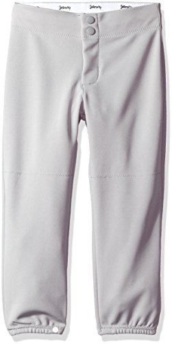 Rise Double Knit Pant, Youth, Medium, Grey (Double Knit Softball Pant)