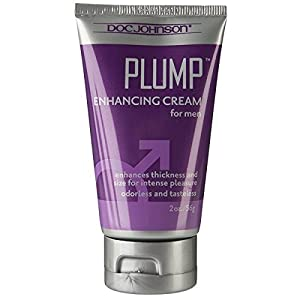 Doc Johnson Plump - Enhancing Cream For Men - Enhances Thickness and Size for Intense Pleasure - Odorless and Tasteless - Free of Glycerin - 2 Oz. (56g) (Not in Retail Box)