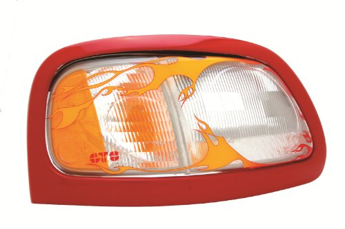 GT Styling 967136 Pro-Beam Headlight Cover Flames Pro-Beam Headlight - Probeam Flames Headlight