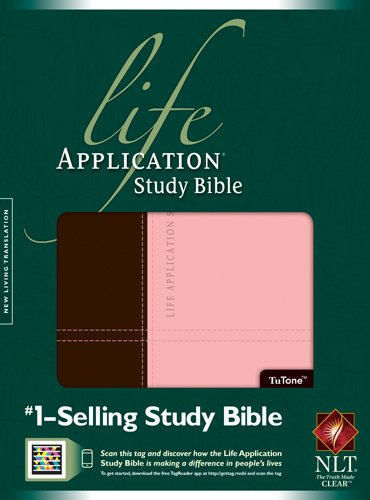 NLT Life Application Study Bible, Second Edition, TuTone (Red Letter, LeatherLike, Dark Brown/Pink)