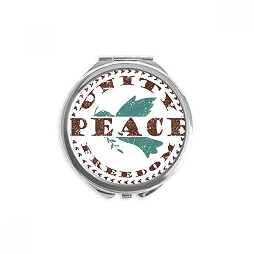 Olive Branch Peace Freedom Symbol Mirror Round Portable Hand Pocket Makeup