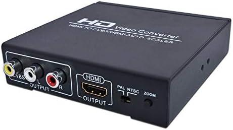 Desconocido Conversor de vídeo Hdmi a Hdmi y Cvbs Compatible con Ntsc y PAL Dos formatos de TV estándar aplicados a Stb Xbox360 Ps3 HD Jugadores: Amazon.es: Electrónica