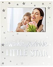 """YEASL Twinkle Twinkle Little Star Baby Picture Frame-Light Up Baby Tabletop Photo Keepsake Frame 4""""x 6"""" Baby Holiday Gift (Horizontal 46)"""