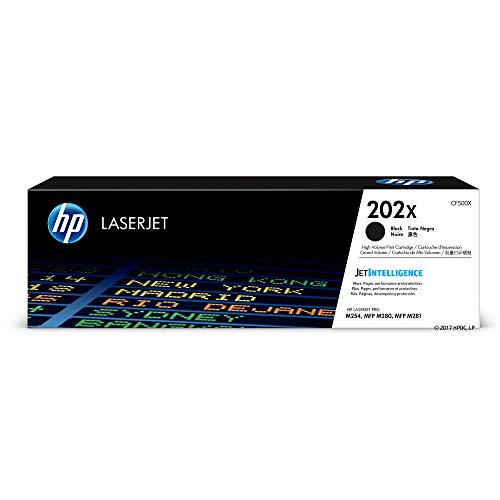 (HP 202X (CF500X) Black High Yield Toner Cartridge for HP LaserJet Pro M254 M281cdw M281dw)